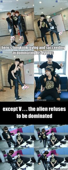 Baby Alien V shall not be dominated! #BTS Meme Center | allkpop