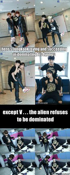 Baby Alien V shall not be dominated! #BTS Meme Center | allkpop