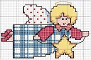 Schema punto croce Angelo Star