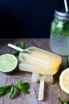 Popsicles Lemon-Mint