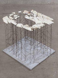 Conceptual Model Architecture, Concept Architecture, Plaster Sculpture, Plaster Art, Commonwealth, Landscape Model, Architectural Sculpture, Installation Art, Contemporary Art