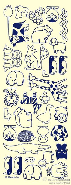 Hand-painted animals, stick figure to the students in the learning point of reference ~! Draw up a hand-painted diary!