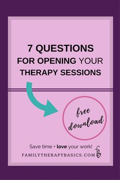Wondering what questions you can use to open your therapy sessions with impact? This post covers 7 questions that will help you set goals, evaluate therapy, and assess counseling clients' significant relationships | 7 Questions for Opening Your Therapy Sessions