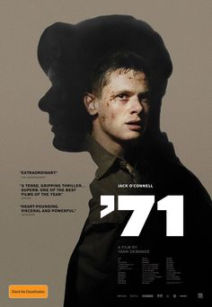 Australian poster launch for ‪#‎71film‬! Starring up-and-coming talent Jack O'Connell (Unbroken, Starred Up) '71 is an exhilarating, gripping thriller about a solider who is accidentally abandoned by his unit behind enemy lines. In cinemas March 19.