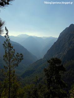 The impressive Samaria gorge in south Chania, Crete.