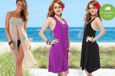 59,99 zł zamiast 100 zł: luźna sukienka plażowa ? 2 modele i kilka kolorów do wyboru