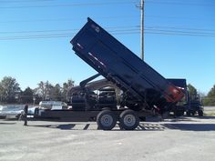 2019 hawke 7 x 16 equipment dump traler w 4 ft sides scissor lift 15000 GVWR Best Trailers, Dump Trailers, Heavy Duty Scissors, Verde Island, Western Sahara, Covered Wagon, Cape Verde, Weather Conditions, Maldives