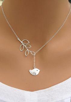 Silver Birdie Necklace- With Birdie Pendant