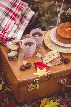 fall picnic on a vintage suitcase // photo: giuseppe voci