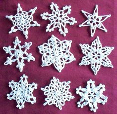 CROCHET SNOWFLAKE PATTERNS | FREE PATTERNS