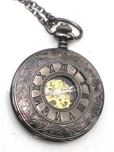 Groomsman Geschenk Pocket Watch Steampunk römische Ziffern