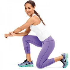Get a booty just like fit celebrity, Jada Pinkett Smith! Check out your awesome butt workout that lifts and tones your booty so you can rock that bikini this summer. Her no equipment needed, at home workout will get your butt in shape in no time.