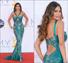 Sofia Vergara in Zuhair Murad at the 2012 Emmy Awards.