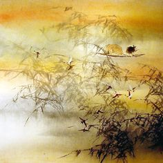CHINESE CANADIAN ARTIST JAMES TAN of The Lingnan School of Painting / 嶺南派畫家-陳蘊化 Chinese Brush, Chinese Art, Art For Art Sake, Canadian Artists, Chinese Painting, Ink Painting, Asian Art, Watercolor, Cats