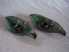 Pair of Vintage Blue Mountain Pottery Candle Candlestick Holders CANADA, $24
