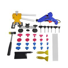 51.00$  Watch now - PDR Tools Kit Paintless Dent Repair Tool for Car Dent Removal Pops-a-dent Gold Dent Lifter Hail Damage Repair Tool for Audi VW  #shopstyle