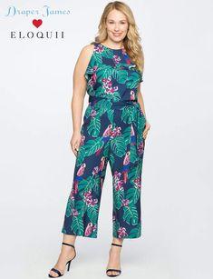 f77401c8d32f52 Draper James for ELOQUII Parrot Print Jumpsuit
