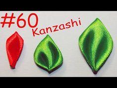 Острый листик Канзаши / Все лепестки Канзаши #60 - YouTube