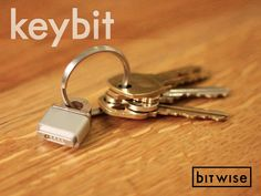 """Very clever. """"KeyBit - MagSafe Adapter Key Ring by Jonathan Bobrow"""" $15 on Kickstarter"""