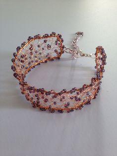 Copper coloured wire