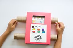 hello, Wonderful - EASY DIY RECYCLED CARDBOARD TV SHOWING OFF YOUR KIDS' ART