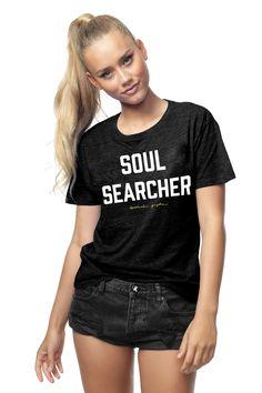 Soul Searcher Tee Vintage Black | Spiritual Gangster Yoga Clothing