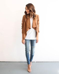 Chic Clique Distressed Faux Leather Jacket