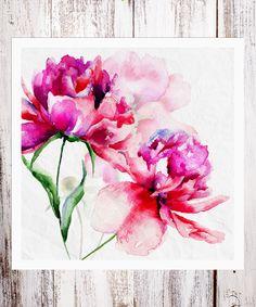 BirdRow Large Floral Art Print   zulily