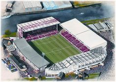 City Ground(Nottingham Forest) @ sportsstadiaart.com