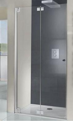 bi fold frameless shower door - add stationary panel, or it comes ...