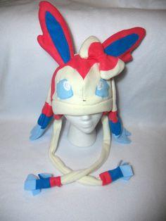 Pokemon Inspired Sylveon Fleece Hat MADE TO ORDER by Higginstuff, $40.00