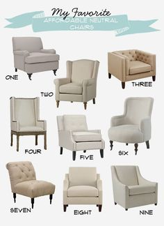 My Favorite Affordable Neutral Chairs