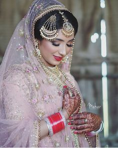 Wedding Lehanga, Desi Wedding, Bridal Lehenga, Wedding Veils, Bridal Outfits, Bridal Dresses, Bridal Looks, Bridal Style, Punjabi Bride