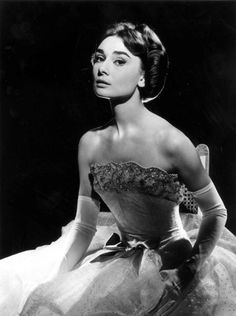 """Audrey Hepburn, """"Love in the Afternoon"""", 1957  Gown by Givenchy Haute Couture"""