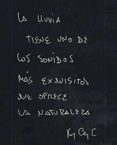 Su exquisito sonido #quotes #instaquotes #inspiration #life #Feel #creation #rain #lluvia
