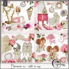 Elements CU - 288 to 291 romantic elements  by Cajoline-Scrap #CUdigitals cudigitals.com cu commercial digital scrap #digiscrap scrapbook graphics