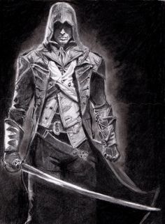 how to draw arno victor dorian from assassins creed unity step 23