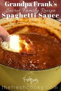 Shhh, this is our secret family recipe for the most amazing spaghetti sauce. #fromscratch #easy #spaghetti #freezermeals #cleaneating #vegetarian #pastasauce