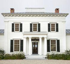 Love a white house.