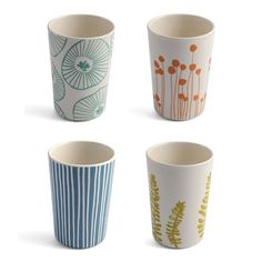 Set of 4 Small Tumblers by Lotta Jansdotter £26.95 - Kitchen & Dining - Melamine ILLUSTRATED LIVING