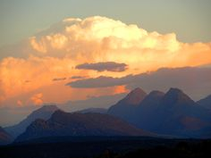 Clouds over Cederberg Marloth Park, South Africa, First Love, Southern, Clouds, Celestial, Mountains, Sunset, Country