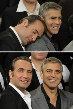George Clooney & Jean Dujardin
