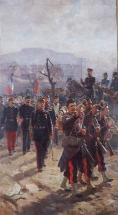 Artillery leaving Belfort after the battle of Sedan 1870