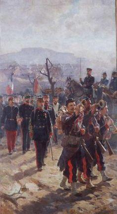 Artillery leaving Belfort after the battle of Sedan 1870