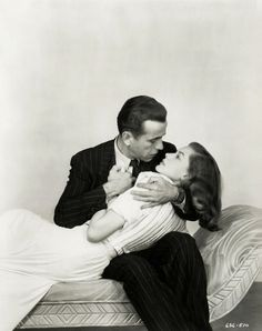 Bogart & Bacall (Claire-Ann has this picture on her computer and she prints it out and hangs it up in their room because they're perfect)