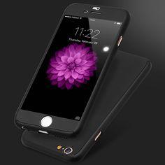 Floveme 몸 전체 범위를 360 360도 case 커버 iphone 7 6 6 초 대한 iphone 7 6 6 초 전화 액세서리 강화 유리