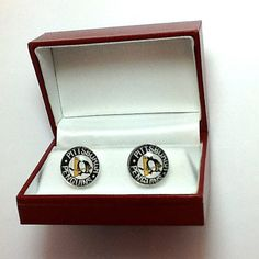 Cuff Links Pittsburgh Penguins NHL Hockey  by CynthiaCoolBeans