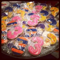 party favors for kids birthdays - Frosted cookies