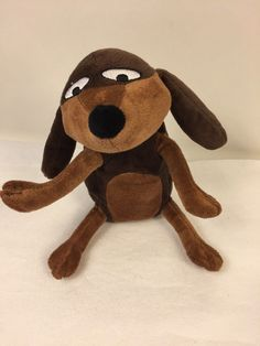 "Charlie And Lola Plush Sizzles Brown Puppy Dog Stuffed Animal Toy Lovey 6"" #KidsPreferred"