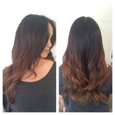 Balayage Caramel Highlights. Asian Hair. Asian Highlights. Definition. Dimension. Great way to add some contrast for your wedding updo.